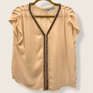 Moonlight by Y & S ladies pleated gold bead top
